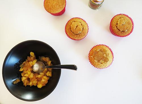 cupcakes, pomme, cannelle, caramel, beurre salé