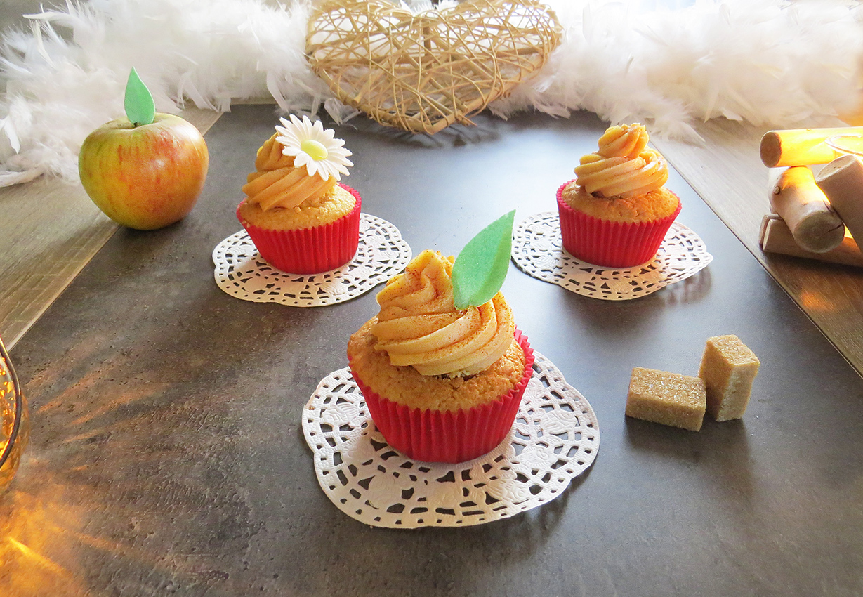 Cupcakes pomme cannelle caramel