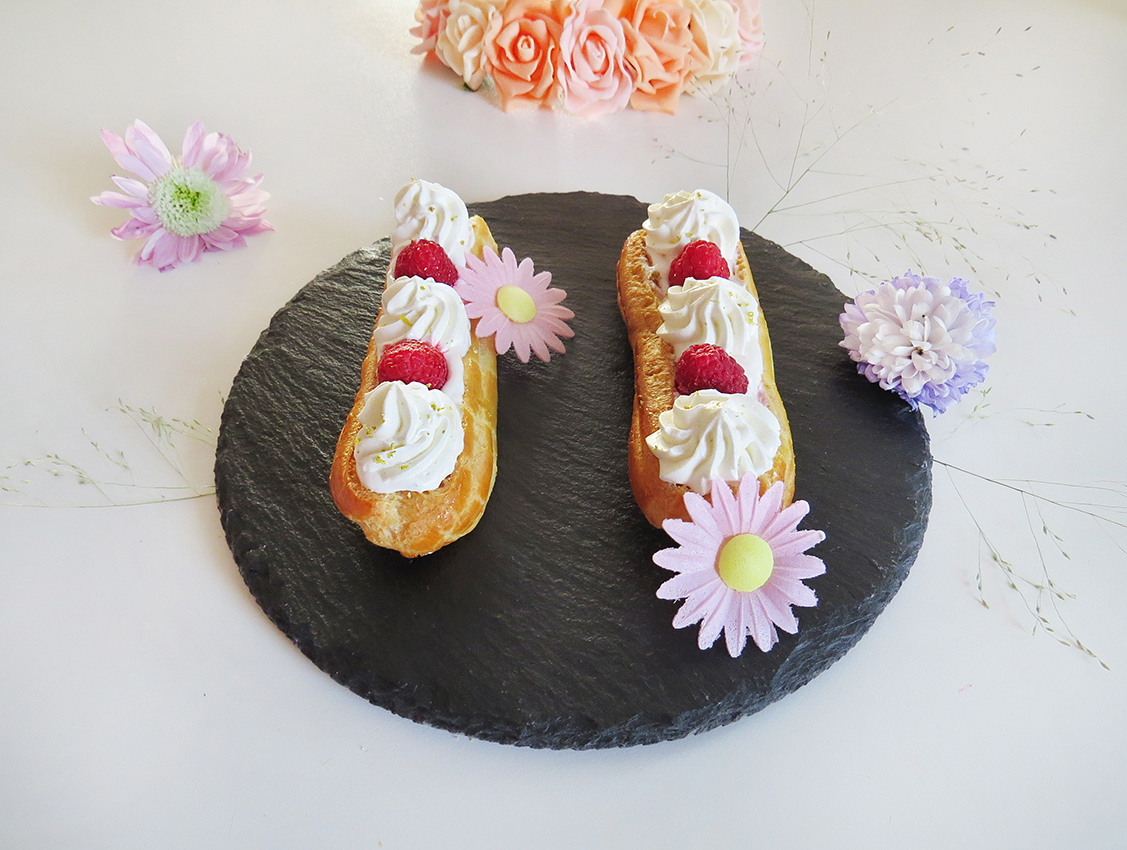 Eclairs litchi-framboise