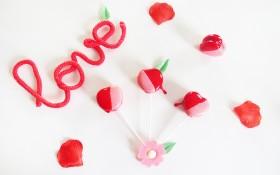 Les macarons pomme d'amour spécial Saint-Valentin