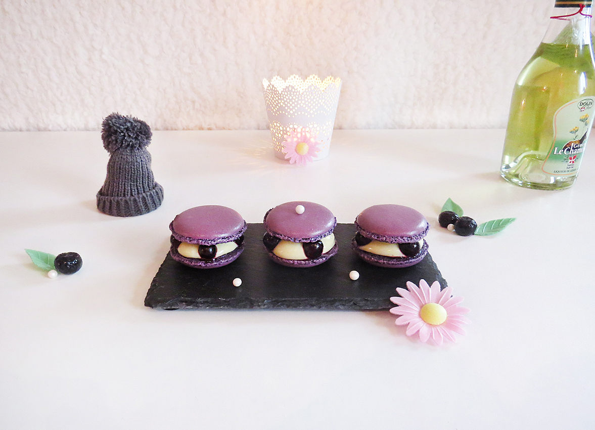 Macarons genepi myrtilles