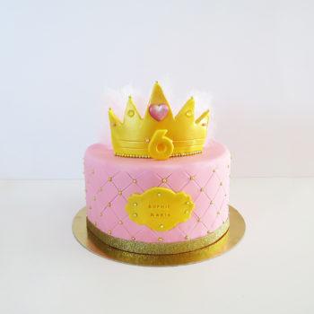 gateau princesse couronne
