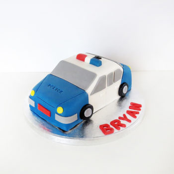 gateau voiture police