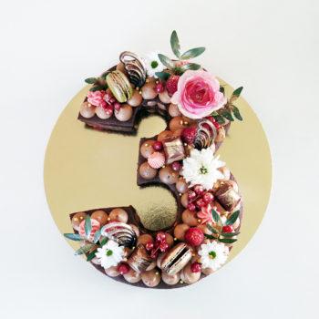 number cake choco