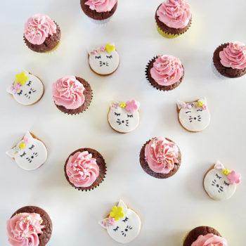 sablés et cupcakes chat