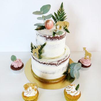 Naked cake safari