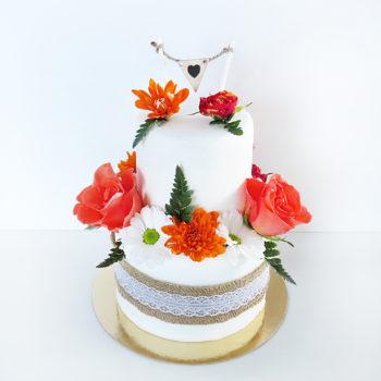 gateau mariage orange