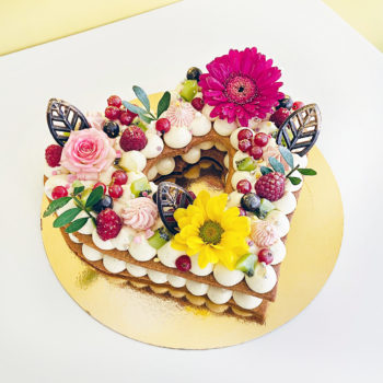 heart number cake