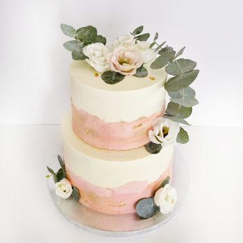 Art cake rose kaki