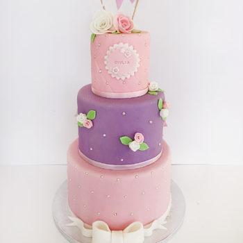 gateau rose violet