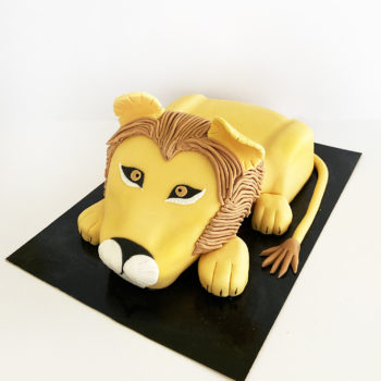 gateau lion sculpté