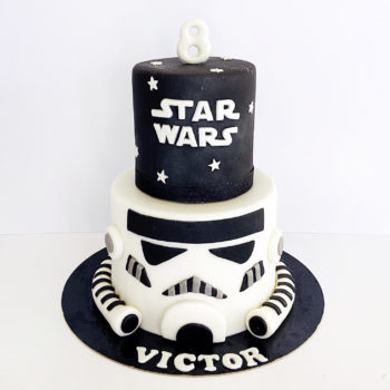 gateau star wars storm trooper